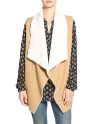 Splendid | Brown Keane Faux-Shearling Vest | Lyst