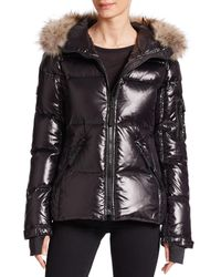 Sam. | Black Blake Fur-trimmed Jacket | Lyst