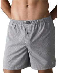 Polo Ralph Lauren | Black Plaid Boxers for Men | Lyst