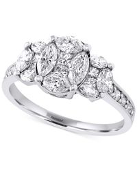 Effy Collection | Effy Diamond Vintage-insired Ring (1-1/3 Ct. T.w.) In 14k White Gold | Lyst