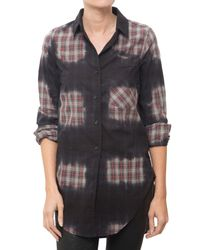 Monrow | Gray Button Down Shirt | Lyst