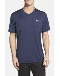 Under Armour | Blue 'ua Tech' Loose Fit Short Sleeve V-neck T-shirt for Men | Lyst