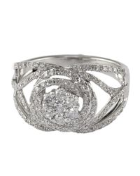 Effy | Metallic Bouquet 14kt. White Gold And Diamond Ring | Lyst