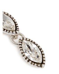 Philippe Audibert - White Crystal Milgrain Drop Earrings - Lyst