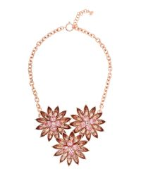 Ted Baker - Black Florena Flower Bloom Necklace - Lyst