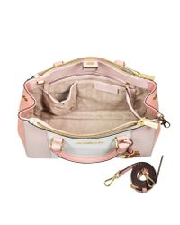 Michael Kors Metallic Sutton Tricolor Medium Saffiano Leather Satchel Bag