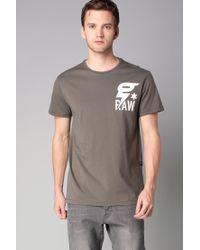 G-Star RAW | Green Short Sleeve T-shirt for Men | Lyst