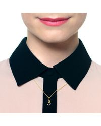 Lulu Frost - Metallic Code Number 14kt #9 Necklace - Lyst