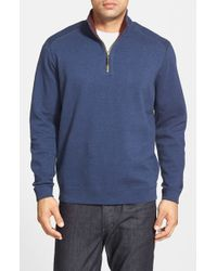 Tommy Bahama - Blue 'flip Side' Reversible Quarter Zip Pullover for Men - Lyst