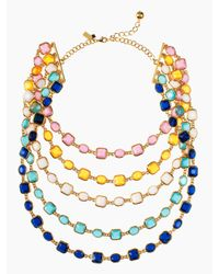 kate spade new york Multicolor Coated Confetti Bib Necklace