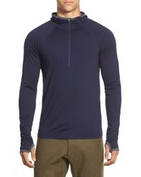 Ibex | Blue 'indie' Half Zip Hoodie for Men | Lyst