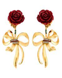 Dolce & Gabbana Red Rose Clip-on Earrings
