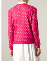 RED Valentino | Pink Polka Dot Sweater | Lyst