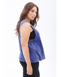 Forever 21 - Blue Mtv Graphic Muscle Tee - Lyst
