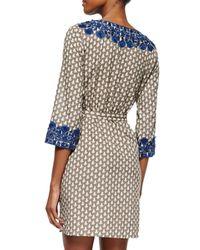 Figue | Blue Sophie Printed Cotton Tie-Waist Dress | Lyst