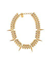 Ela Stone | Metallic Marla Spikes Short Necklace | Lyst