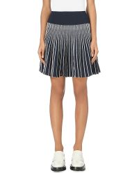 Adidas Originals | Blue Stripe Pleated Skirt | Lyst