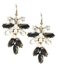 Panacea | Black Crystal Cluster Drop Earrings | Lyst