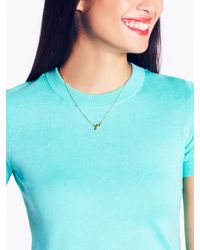 kate spade new york | Metallic Say Yes Necklace | Lyst