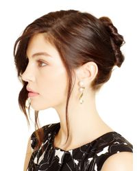 Oscar de la Renta | Metallic Light Gold Octopus Pearl Earrings | Lyst