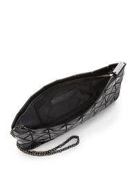 Bao Bao Issey Miyake Black Prism Basic Faux Patent Leather Shoulder Bag