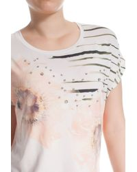 Elena Miro | Multicolor Plus Size T-shirt With Print And Embroidery | Lyst