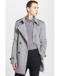Burberry Black 'britton' Double Breasted Trench Coat for men