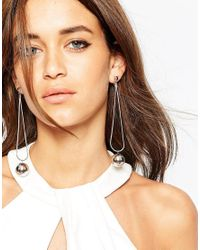 ASOS | Metallic Bubble Drop Earrings | Lyst