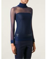 Courreges Blue Sheer Top