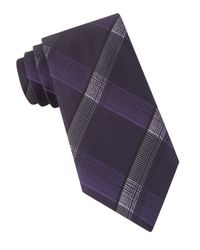 John Varvatos | Purple Mirror-plaid Tie for Men | Lyst