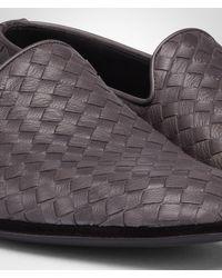 Bottega Veneta Gray New Light Grey Intrecciato Foulard Calf Outdoor Slipper for men