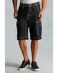 True Religion | Black Issac Trooper Mens Cargo Short for Men | Lyst
