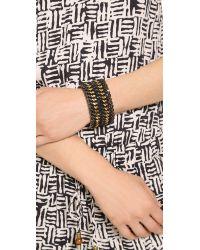 Bex Rox - Alabama Cuff Bracelet Goldblack - Lyst