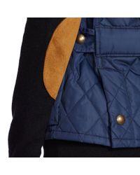 Polo Ralph Lauren - Blue Suede-trim Quilted Vest - Lyst