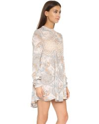 Free People - Natural Sweet Thing Printed Tunic - Lyst