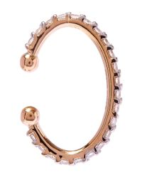 Kismet by Milka - Pink Rose Gold Geometry Circle Diamond Cuff Earring - Lyst