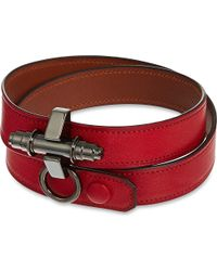 Givenchy - Red Obsedia Triple-Wrap Leather Bracelet - For Women - Lyst
