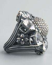 Stephen Dweck | Metallic Silver Citrine And Diamond Flower Ring | Lyst