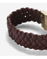 Cole Haan - Metallic Braided Leather Bracelet - Lyst