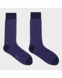 Paul Smith Purple Men's Violet Kid Mohair Socks for men