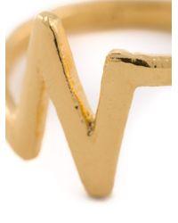 Bjorg - Metallic 'n Alphabet Ring' - Lyst