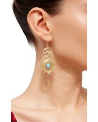 Annette Ferdinandsen | Metallic Long Peacock Earrings | Lyst