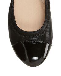 Easy Spirit | Black Gessica Suede Ballet Flats | Lyst