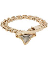 Givenchy Metallic Gold Shark Tooth Bracelet