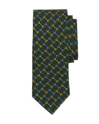 Brooks Brothers | Green Bit Link Print Tie for Men | Lyst