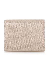 Dune | Metallic Bernadette Jewel Brooch Trim Clutch Bag | Lyst