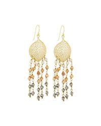 Panacea - Metallic Hematite Crystal-fringe Earrings - Lyst