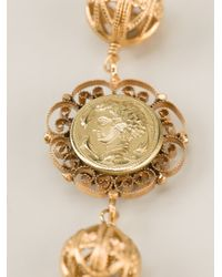 Dolce & Gabbana - Metallic Cameo Coin Necklace - Lyst