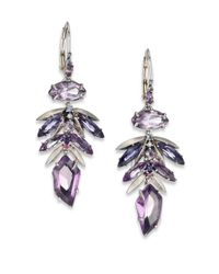 Alexis Bittar Fine | Metallic Amethyst Leaf Cluster Drop Earrings | Lyst
