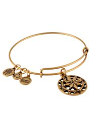 ALEX AND ANI | Metallic Compass Charm Bangle | Lyst